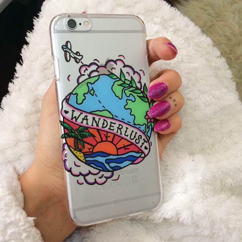 Hand painted Wanderlust phone case by Ohabioh (Photo: Ohabioh/Instagram)