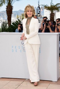 Fonda promotes her film Youth, Cannes, May 2015.